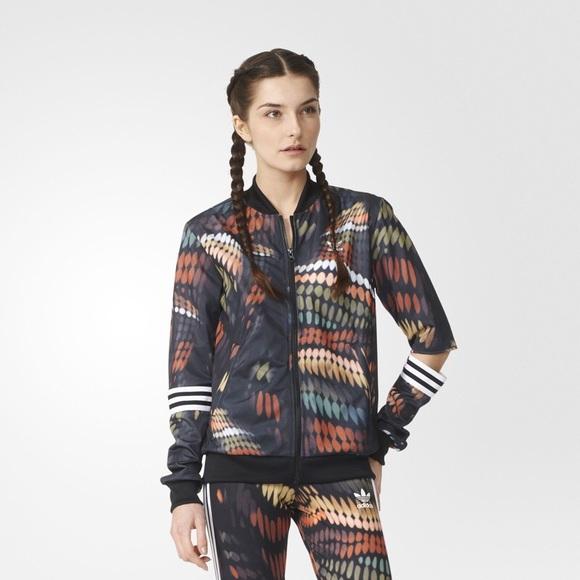 fdd36476ac9 adidas Jackets & Blazers - adidas x rita ora cutout sleeves colorful jacket